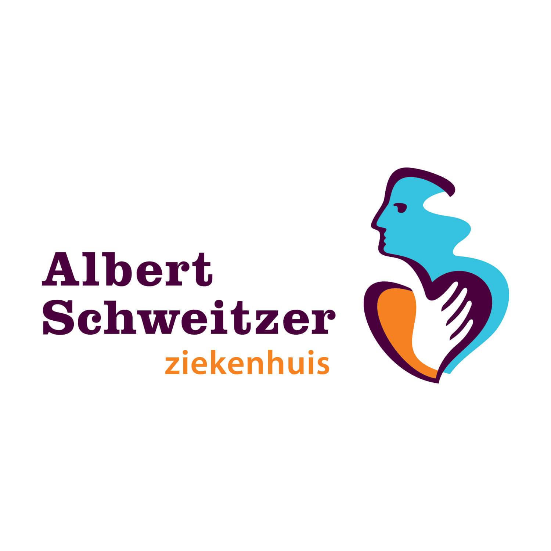Logo van het Albert Schweitzer ziekenhuis.