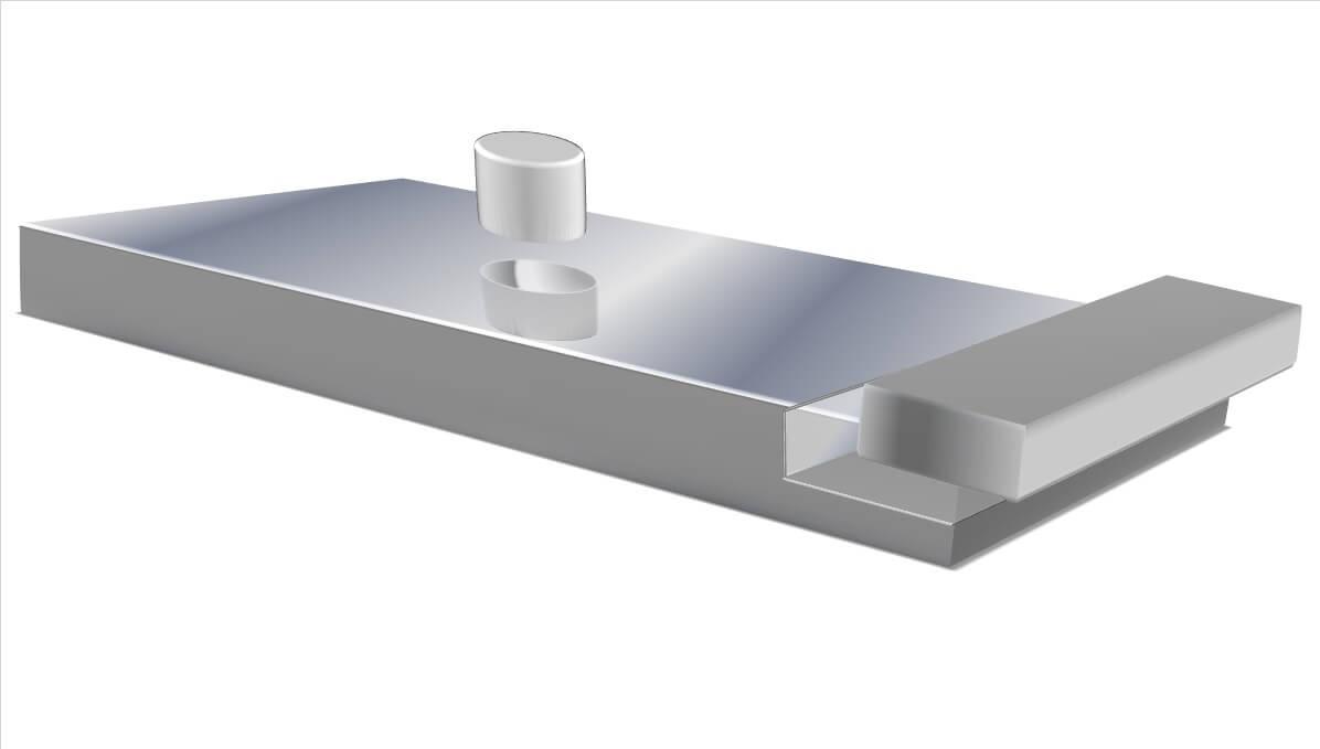 Een rendering van de M2000 gesealed multi-layer traagschuim matras met uitneembaar hiel- en sacrumstuk speciaal voor astma patiënten, anti-allergieën en optimale hygiëne.