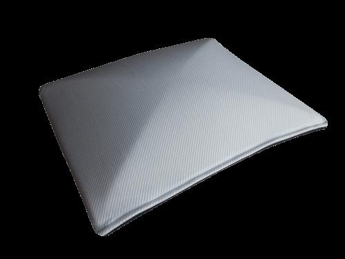 Een rendering van een OP500 traagschuim hoofdkussens met visco-elastische vol-kern, uitermate geschikt voor rugligging.