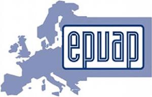 Het logo van EPUAP; guidelines voor decubitus preventie.