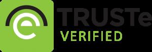 Het logo van TRUSTe.