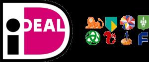 Een afbeelding met de logo's van iDeal, ING, ABN AMRO, SNS Bank, Van Lanschot, Triodos Bank, ASN Bank, Rabobank en Friesland Bank.