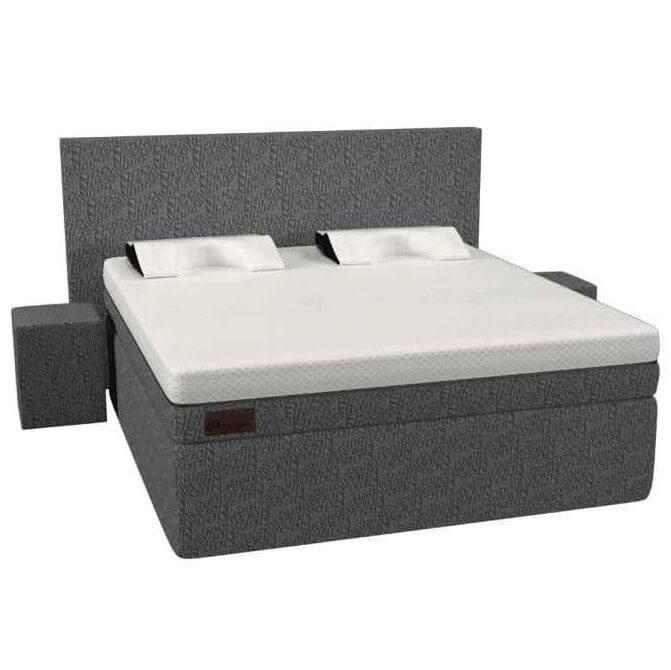 De antraciet grijze Full Core Boxsrping set van koudschuim met hoogwaardig multi-layer matras van traagschuim en koudschuim.
