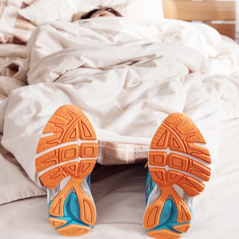 Slapen na het sporten.